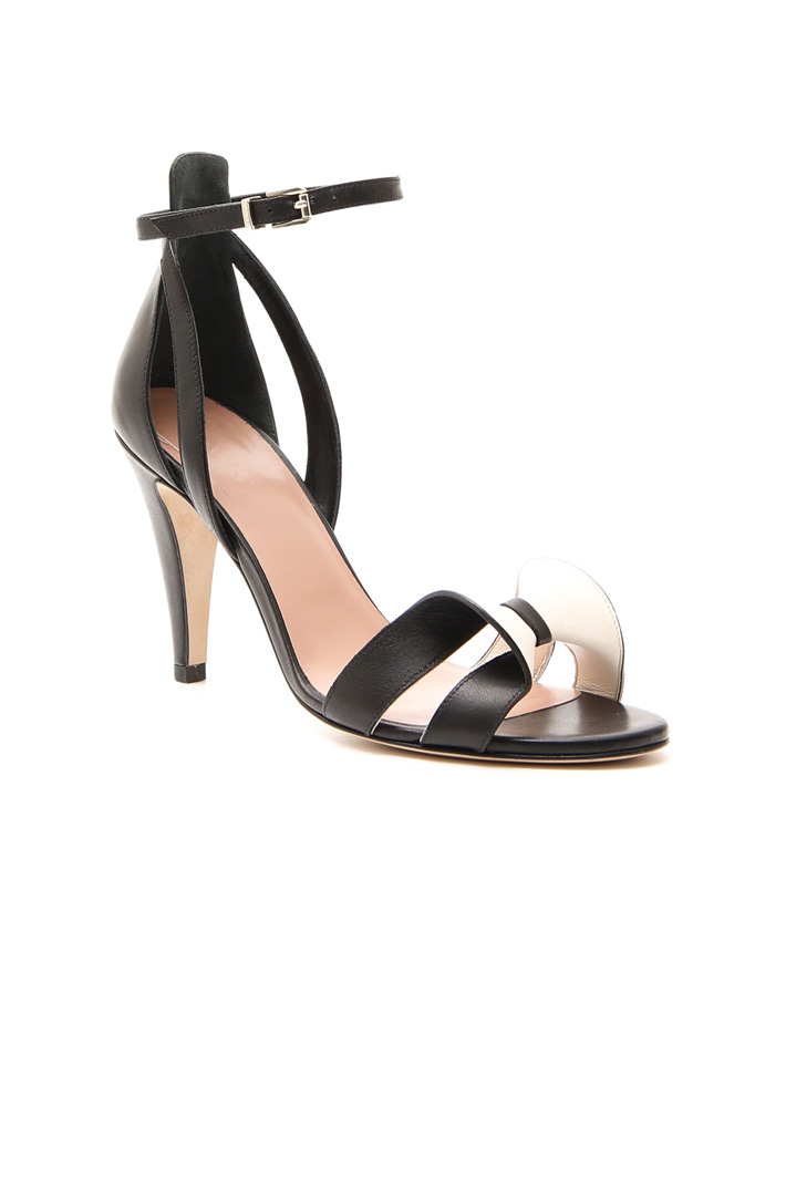 Bow detail leather sandals Diffusione Tessile