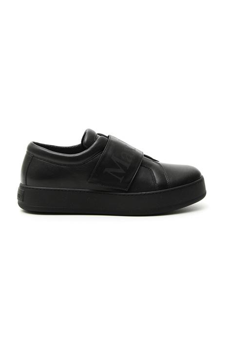 Sneakers in pelle semi lucida Diffusione Tessile