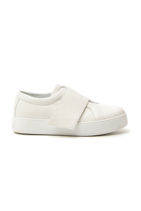 Semi-glossy leather sneakers Diffusione Tessile