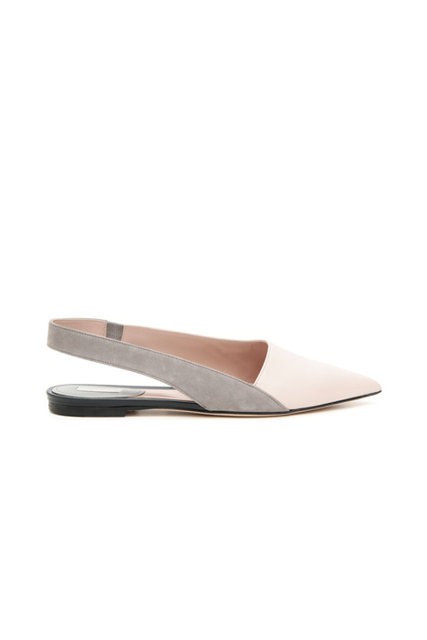 Leather slingback ballerinas Intrend
