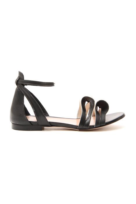 Sandalo flat con fiocchi Diffusione Tessile