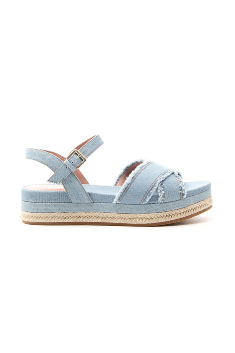 Frayed denim sandals Diffusione Tessile