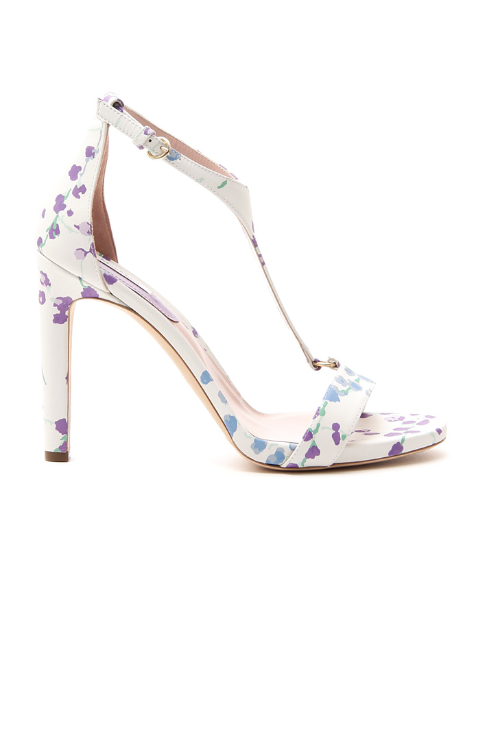 Printed leather sandals Diffusione Tessile