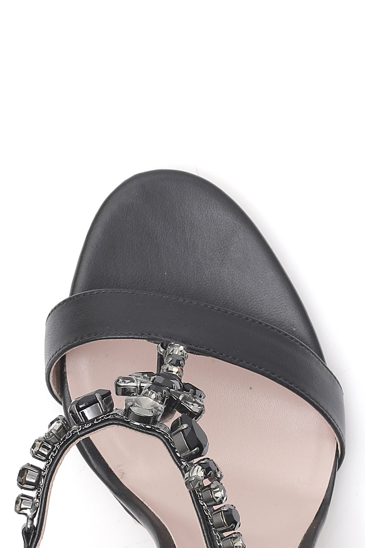Sandalo gioiello in pelle Intrend