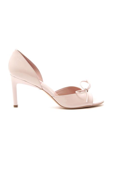 Sandalo in pelle verniciata Diffusione Tessile