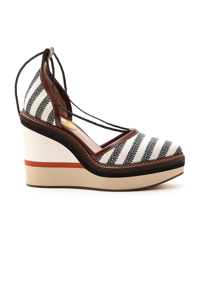 Fabric covered wedge sandal Diffusione Tessile