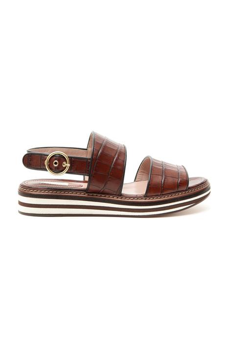 Sandalo in pelle stampa cocco Diffusione Tessile