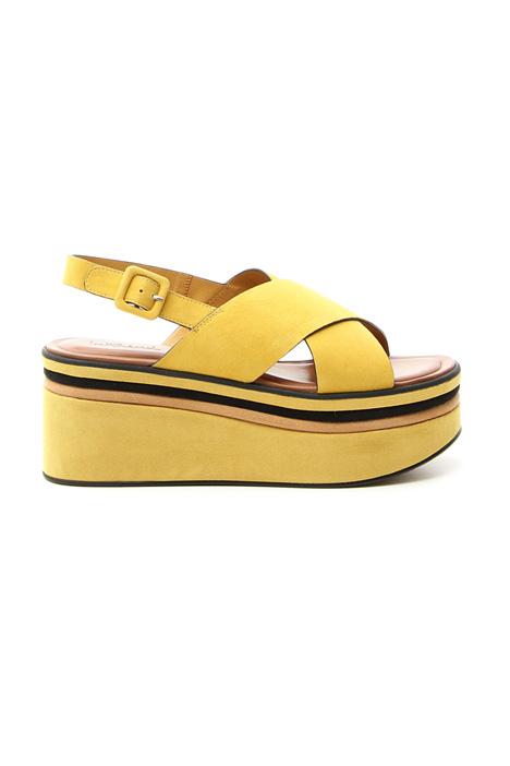 Suede platform sandals Diffusione Tessile
