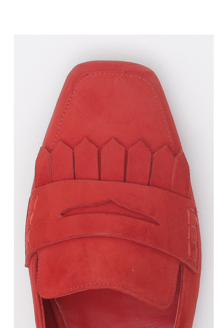 Suede slingback moccasin Intrend