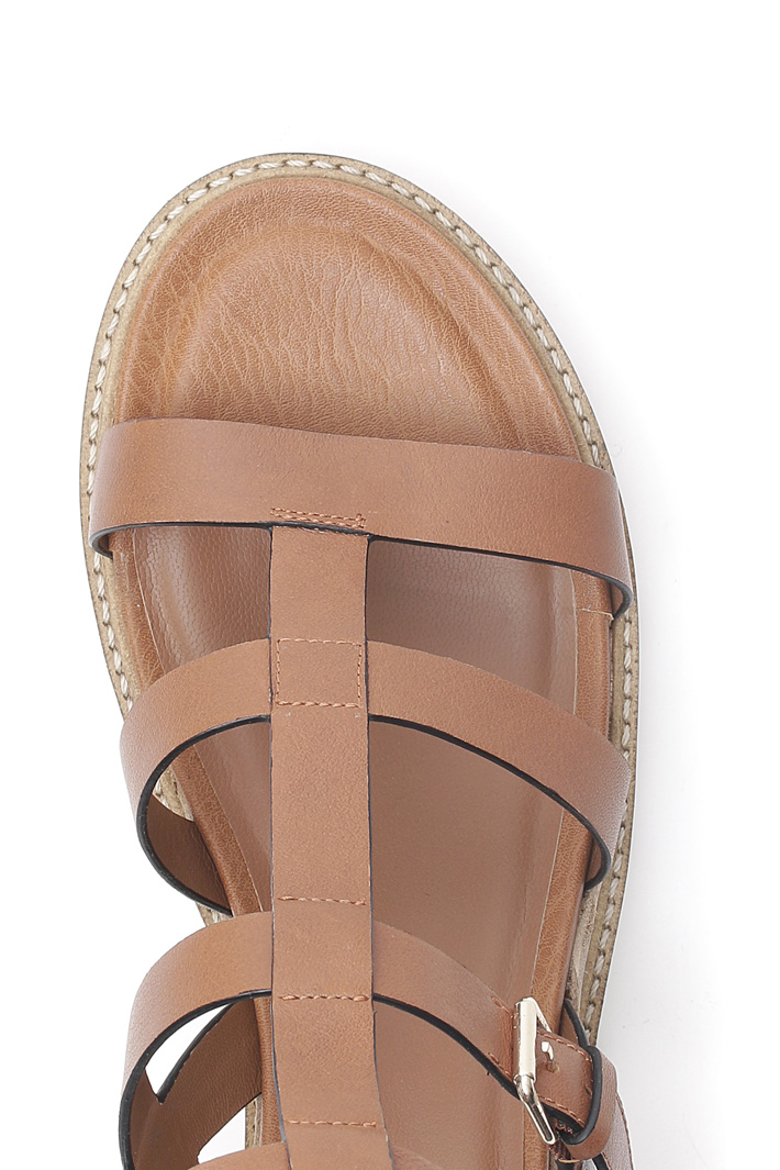 Sandal with rubber sole  Intrend