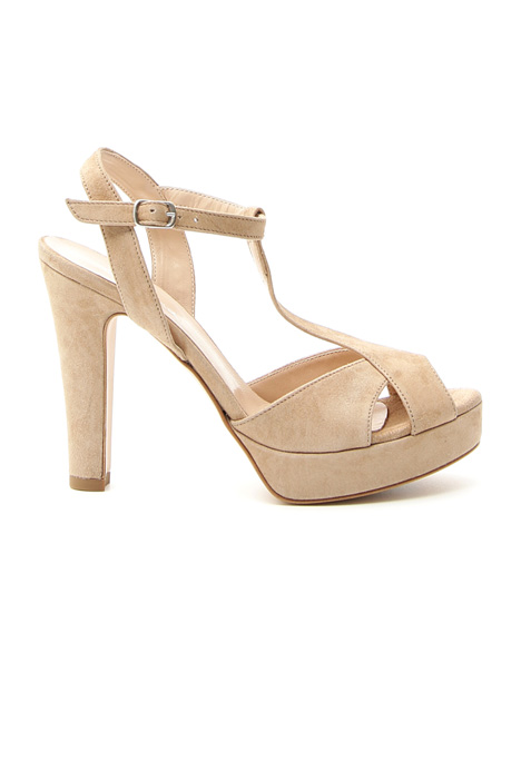 Suede sandals with heel  Intrend