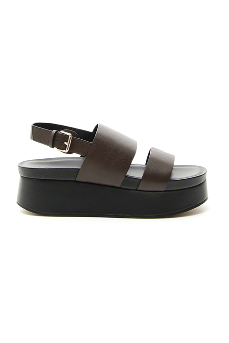 Leather platform sandals Diffusione Tessile
