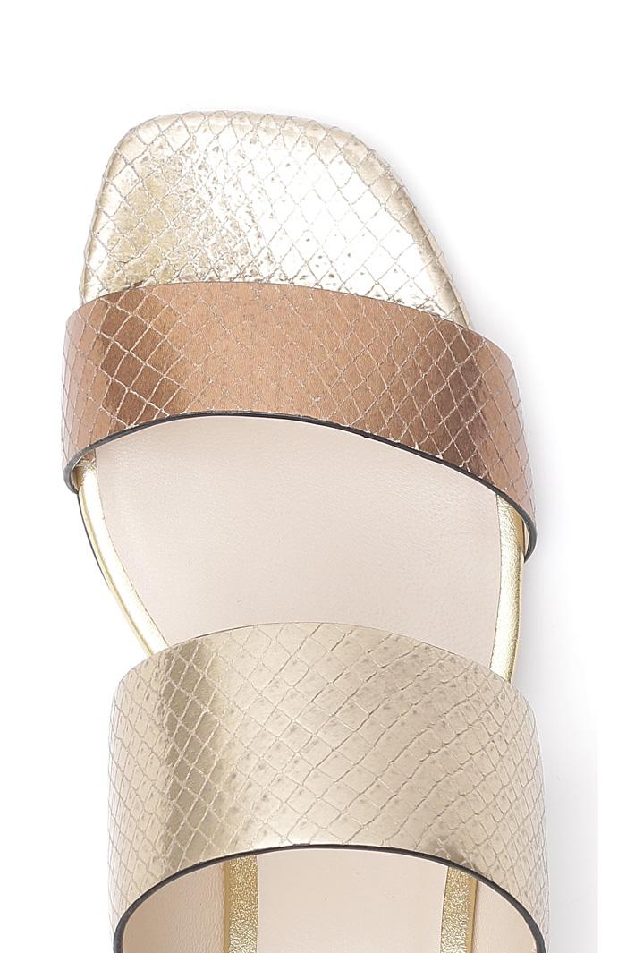Reptile print sandal  Intrend