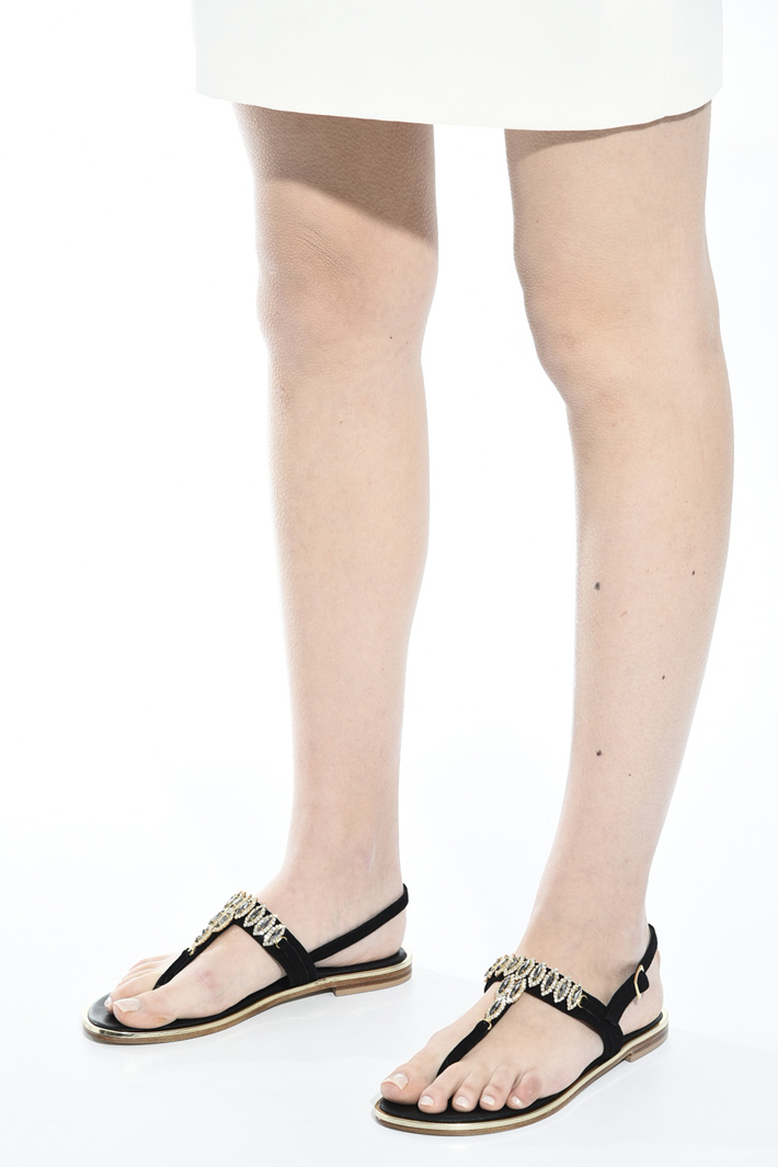 Sandali con strass gioiello Intrend