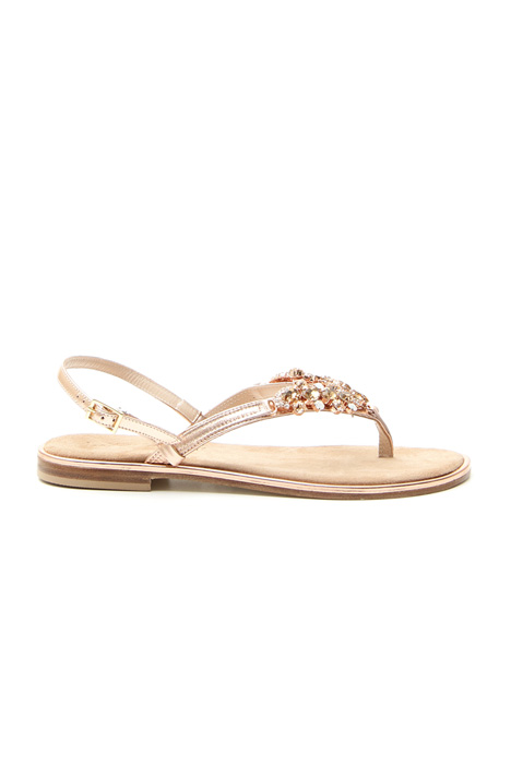 Flat jewel sandal  Intrend
