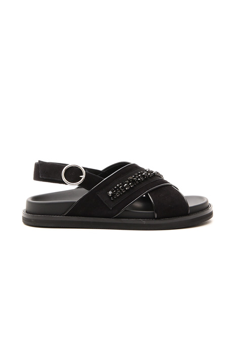 Sandalo con ricamo gioiello Diffusione Tessile