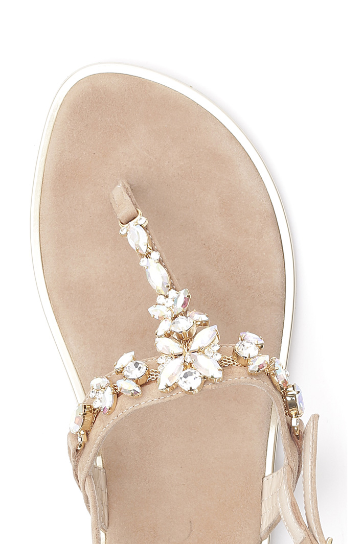 Sandals with rhinestones  Intrend
