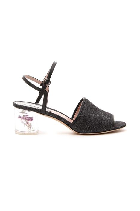 Sandalo con tacco trasparente Diffusione Tessile