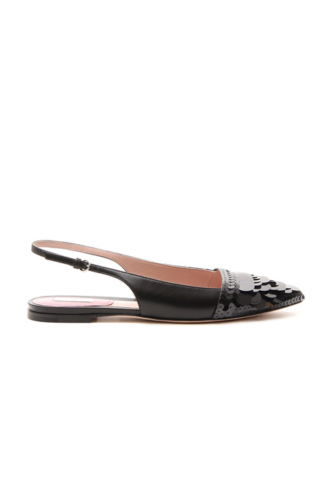 Ballerina sling back in pelle Diffusione Tessile