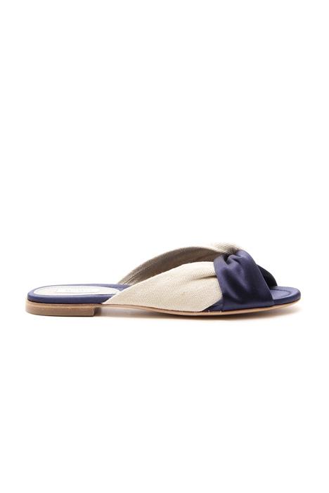 Sandalo con intreccio Diffusione Tessile