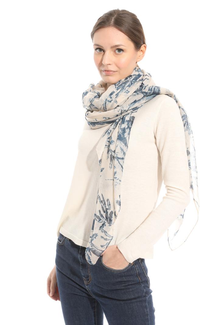 Fluid scarf in muslin Intrend