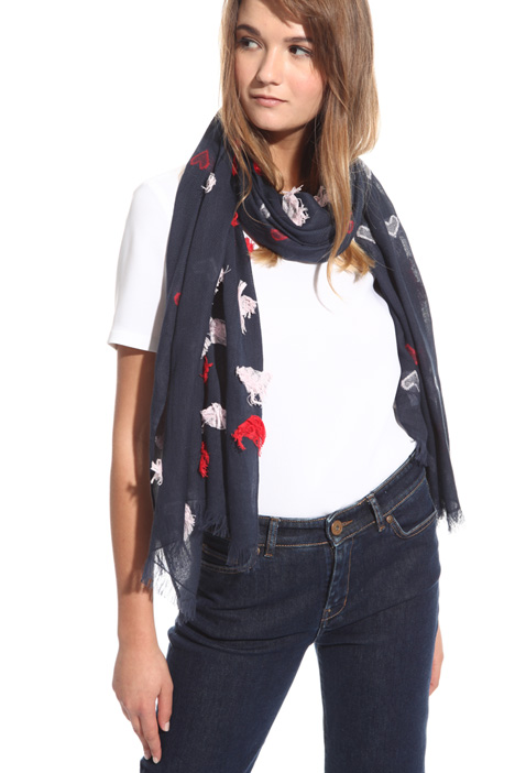 Fil coupé cotton scarf Intrend