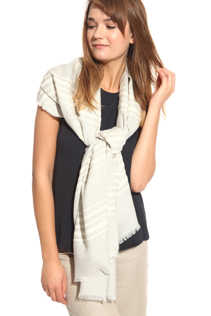 Silk and cashmere stole Intrend