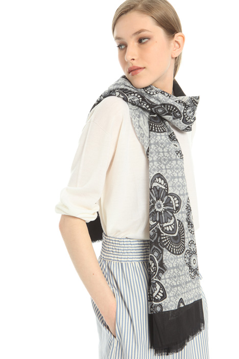 Printed cotton scarf Intrend