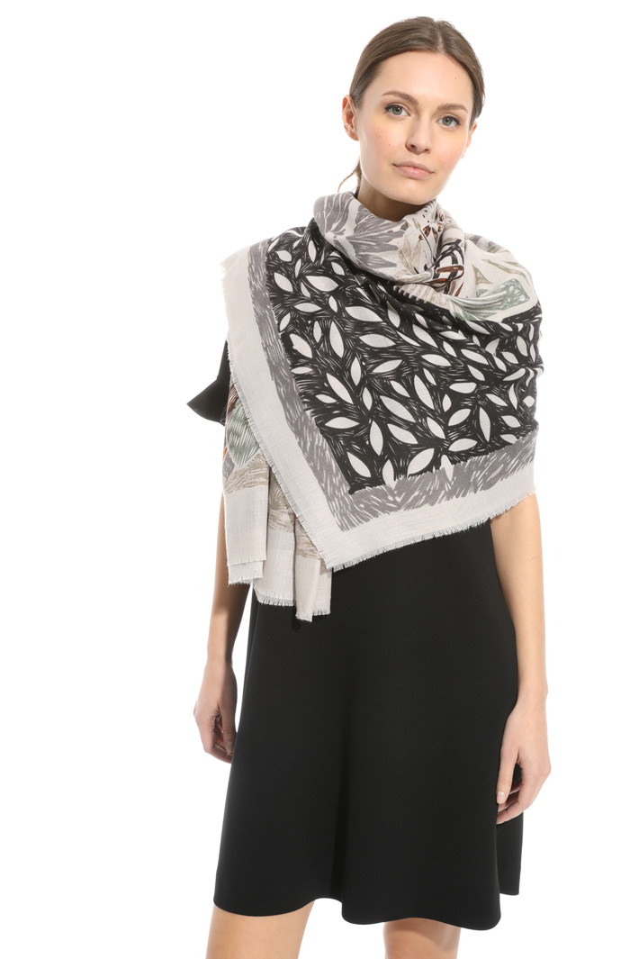 Soft printed scarf Intrend