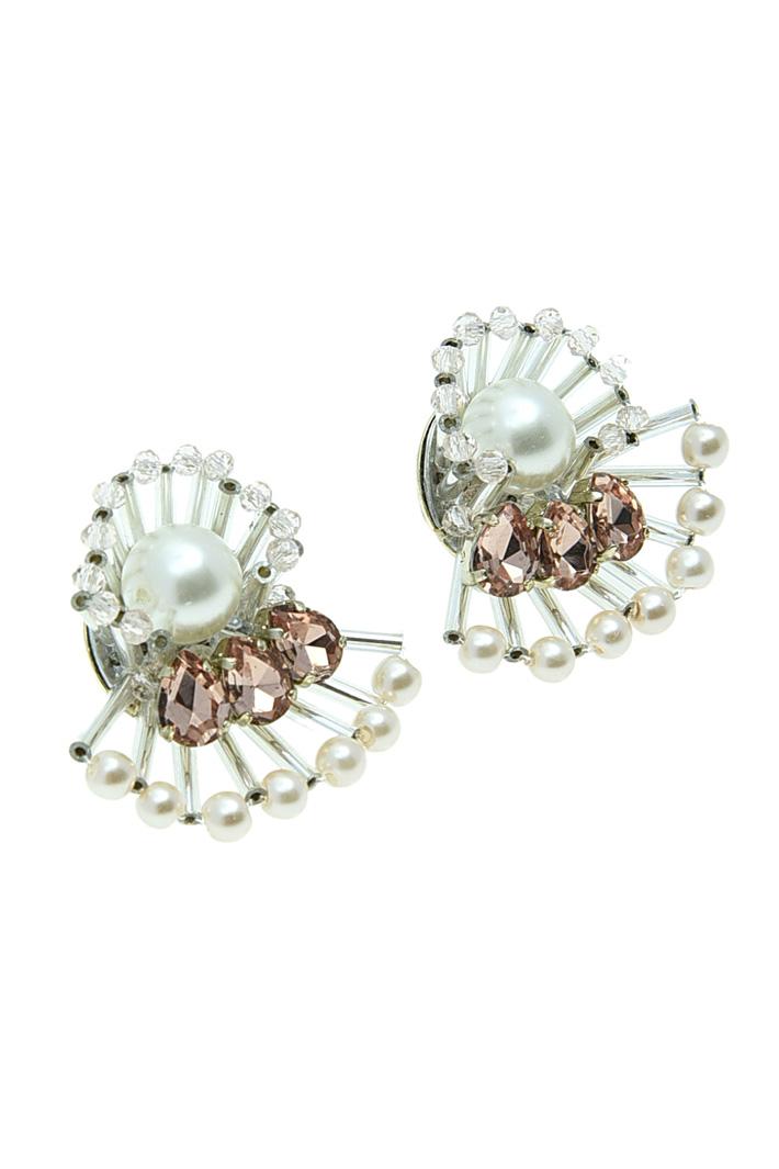 Fan-shaped earrings Diffusione Tessile