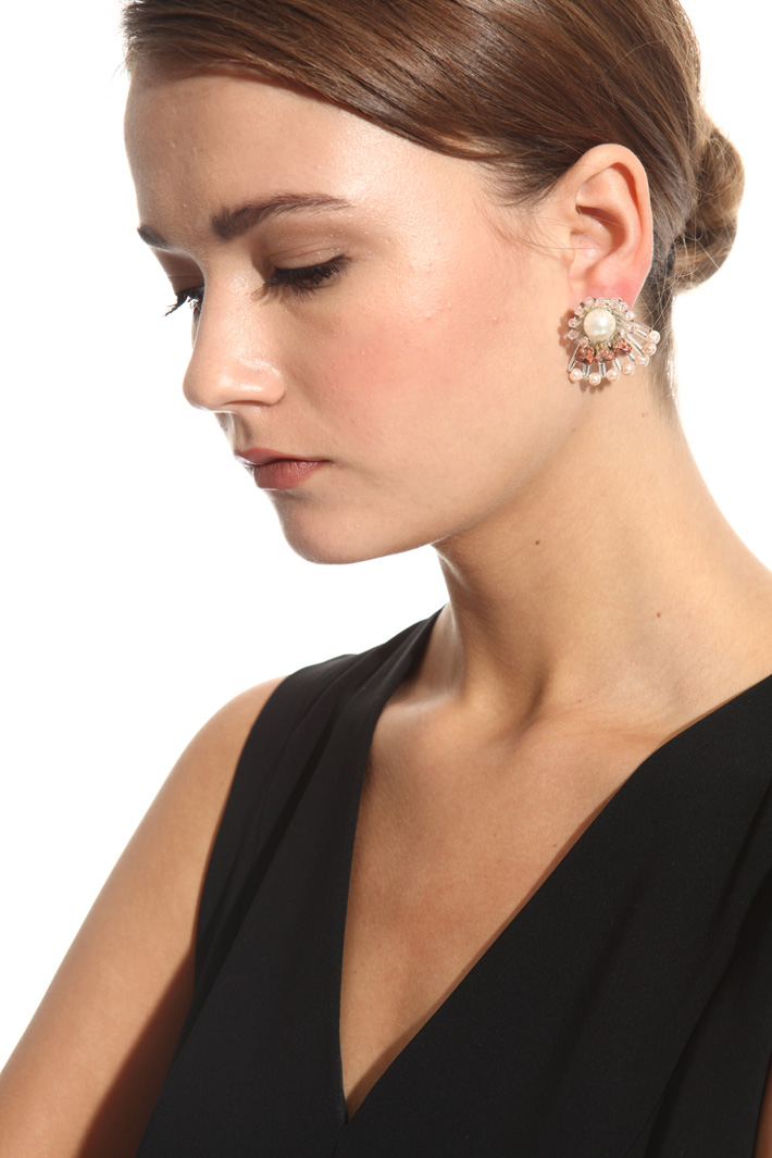 Fan-shaped earrings Intrend