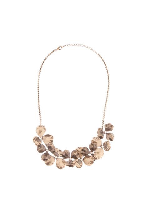 Collana in metallo con fiori Diffusione Tessile