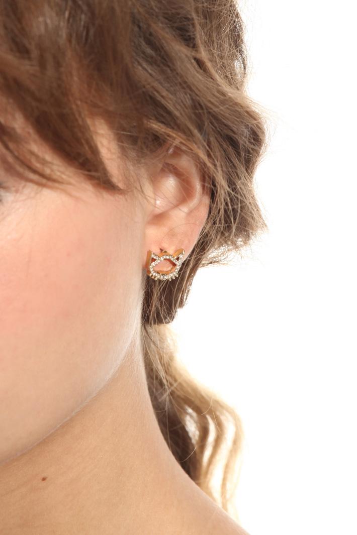 Crystal ear studs Intrend