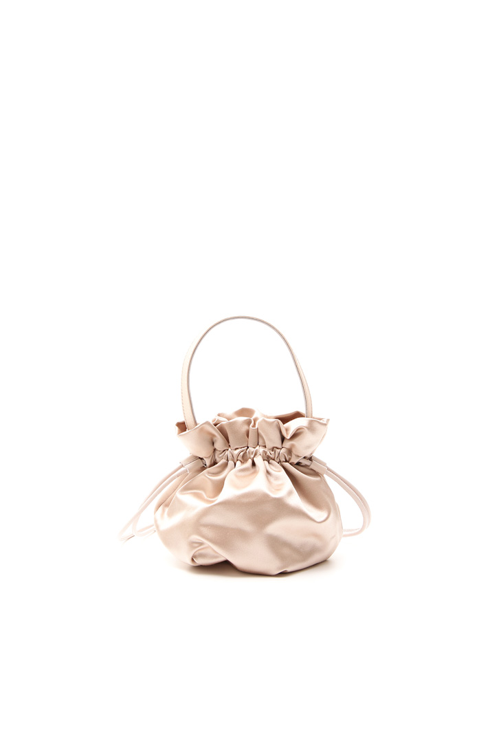 Sack-like bag in satin Intrend