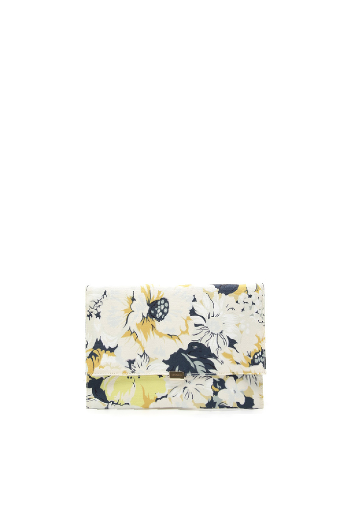 Printed canvas pochette Intrend