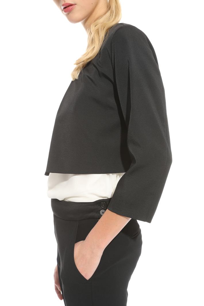Stretch faille bolero jacket Intrend