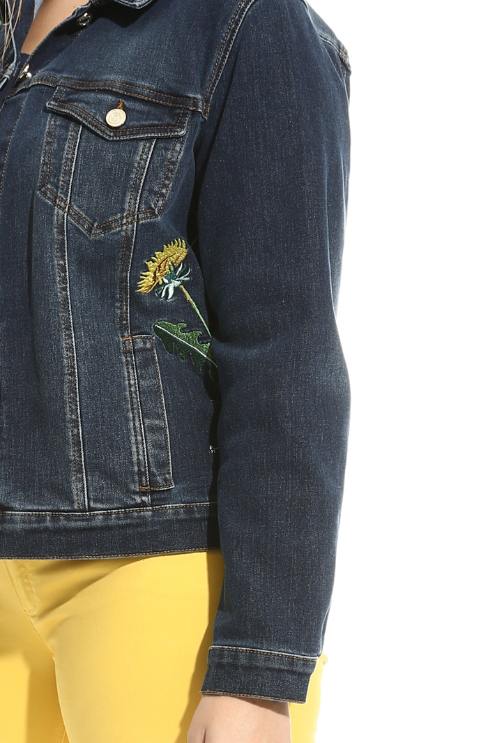 Embroidered denim jacket Diffusione Tessile