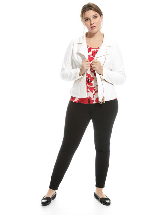 Giacca Chiodo in jersey denim Diffusione Tessile