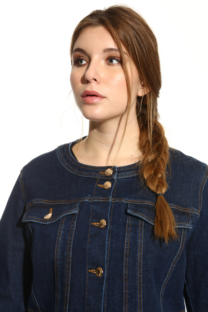 Stretch denim jacket Diffusione Tessile