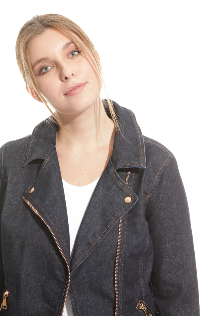 Denim biker jacket Intrend
