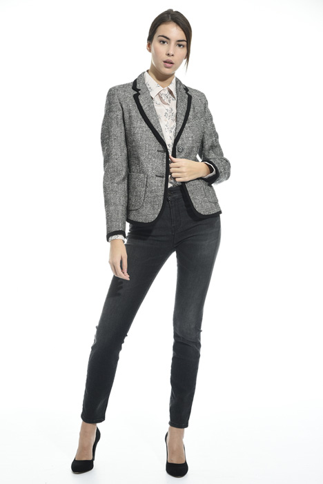 Interwoven cotton blazer Intrend