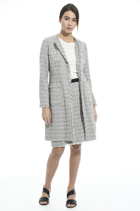 Interwoven lurex duster coat Intrend