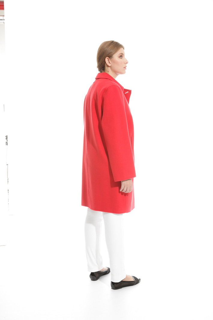 Double layer wool coat Diffusione Tessile