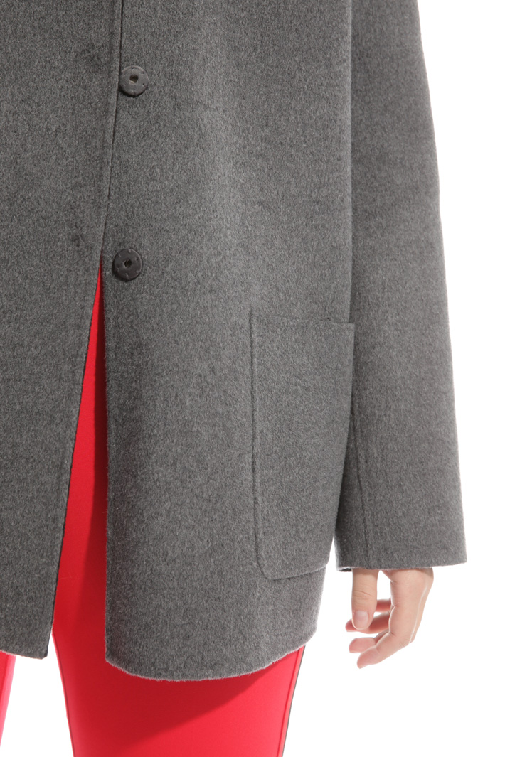 Wool coat with hood  Diffusione Tessile