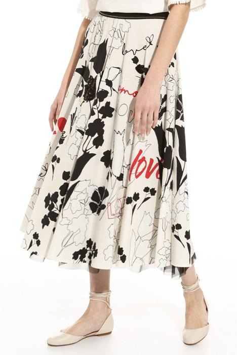 Skirt in printed seersucker Intrend