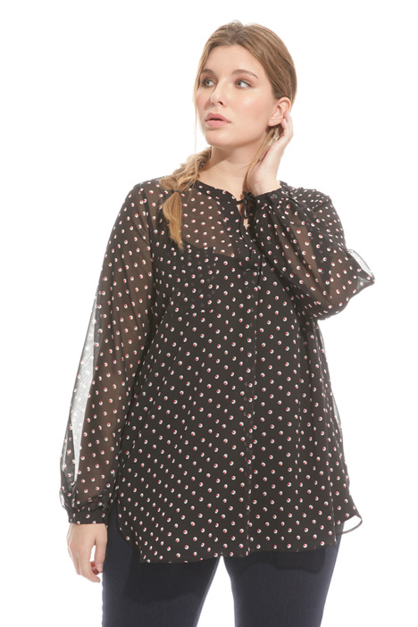 Blouse in printed georgette  Diffusione Tessile