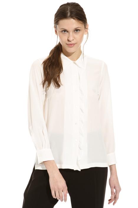 Frilled silk shirt Diffusione Tessile