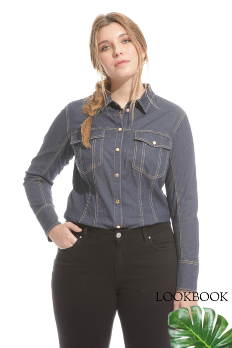 Denim bodysuit Intrend