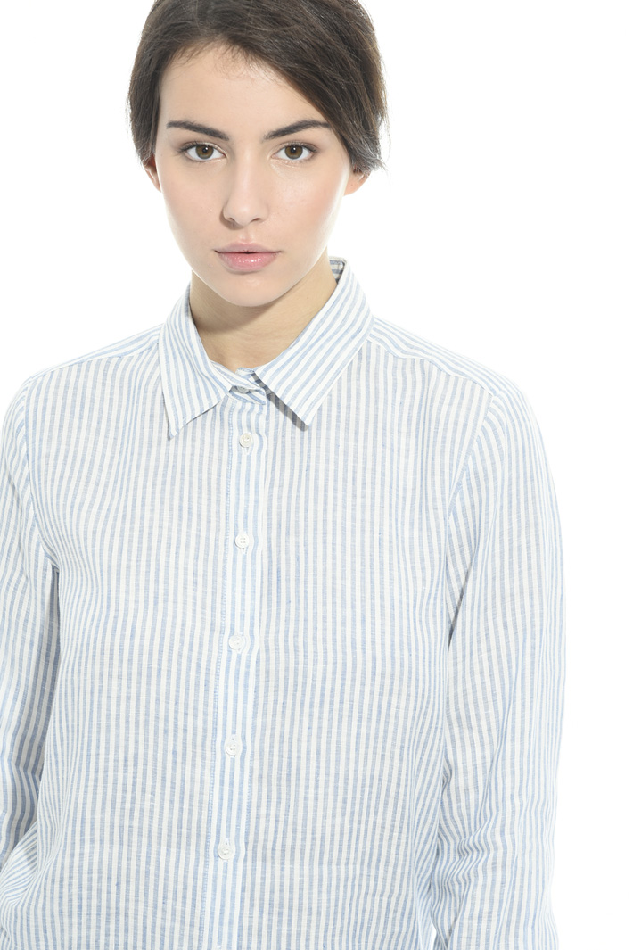 Camicia in lino tinto in filo Intrend