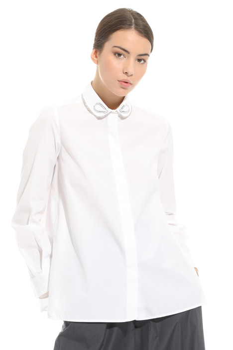 Shirt with embroidered collar  Diffusione Tessile